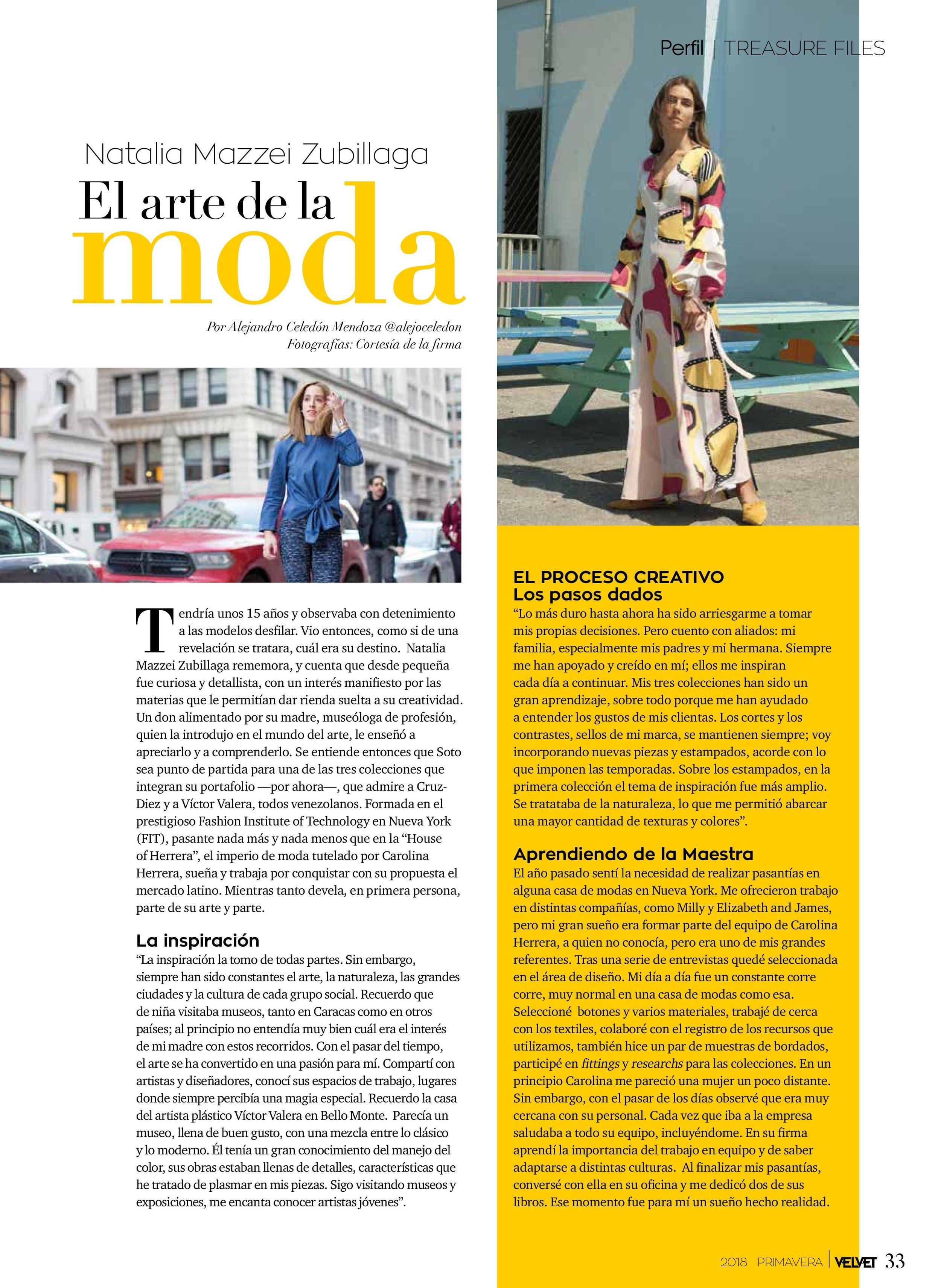 Revista VELVET - Primavera 2018
