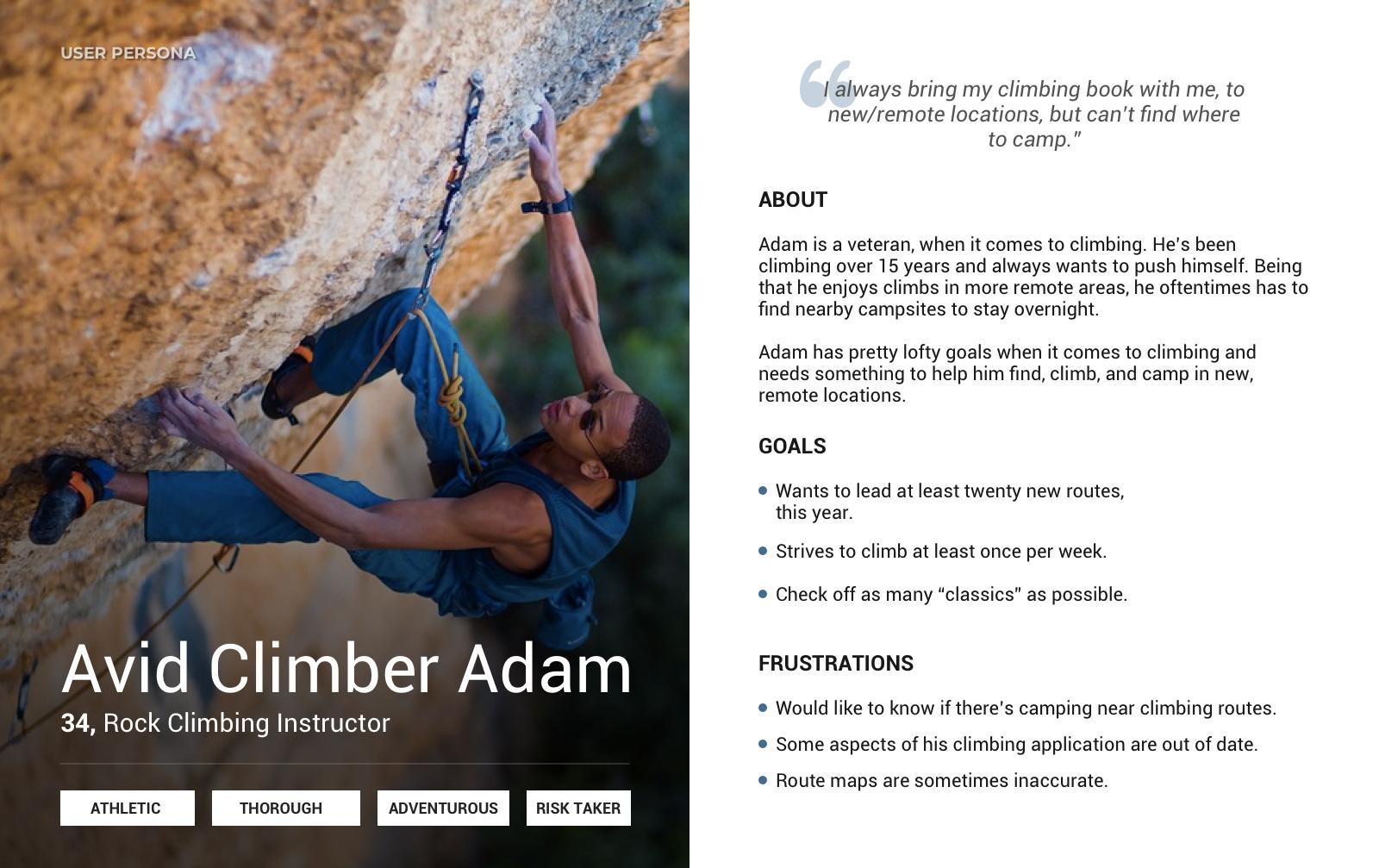 Avid Climber Persona