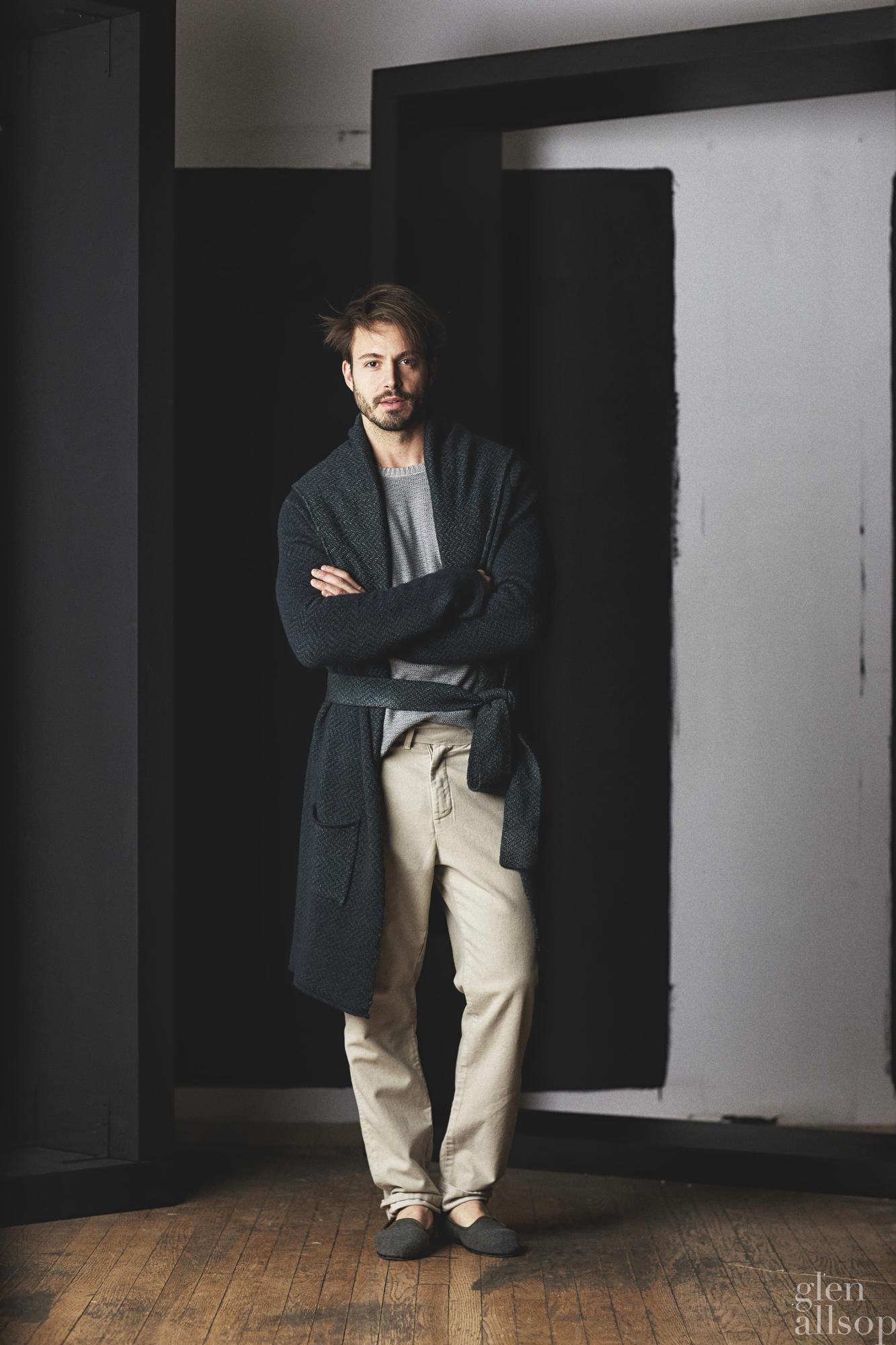 lookbook 6-eidos-nyfwm-menswear-robe-green knit-emanuele