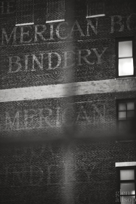 american bindery-new york-black and white-nyc