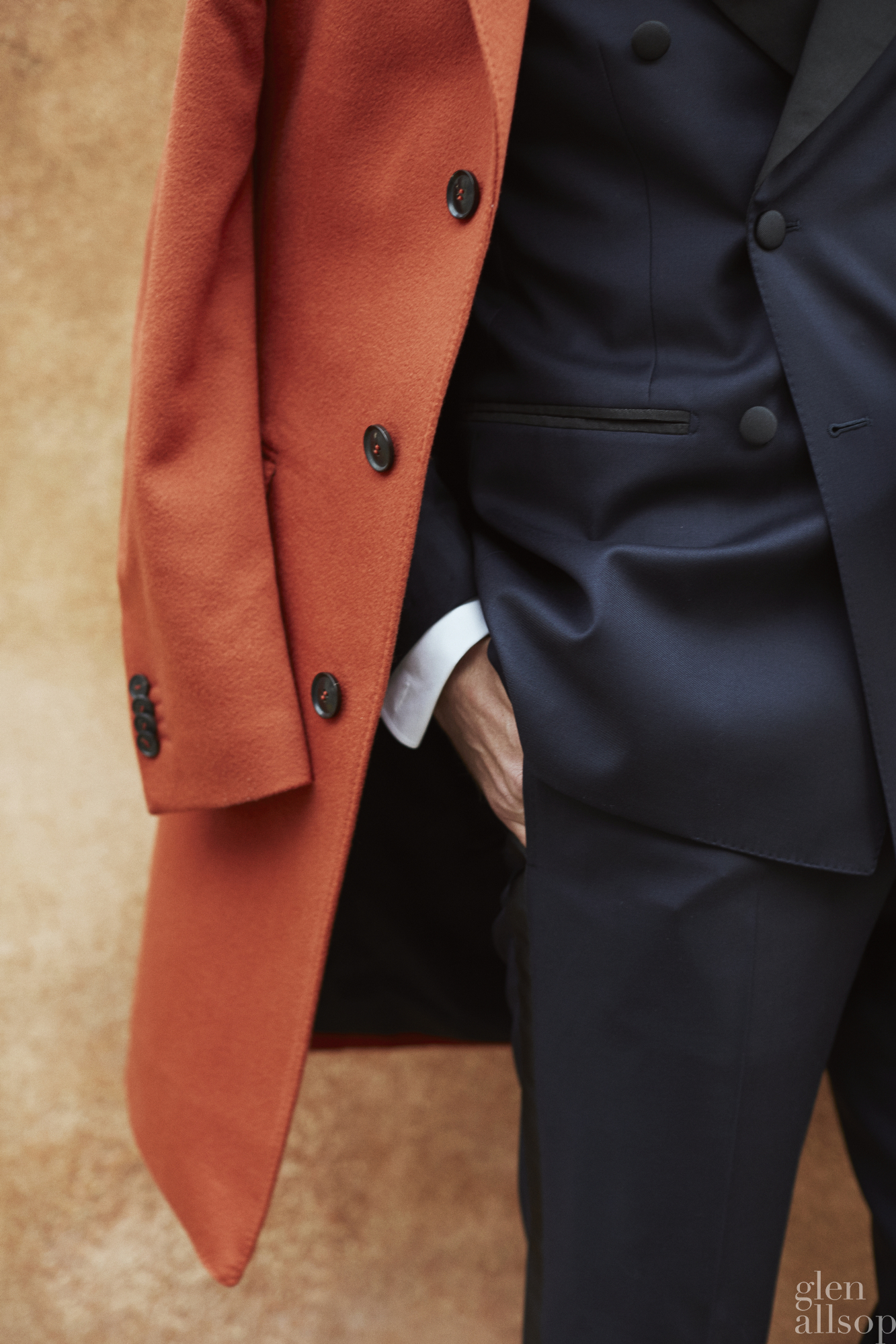 orange top coat-navy tuxedo-marcus malmborg