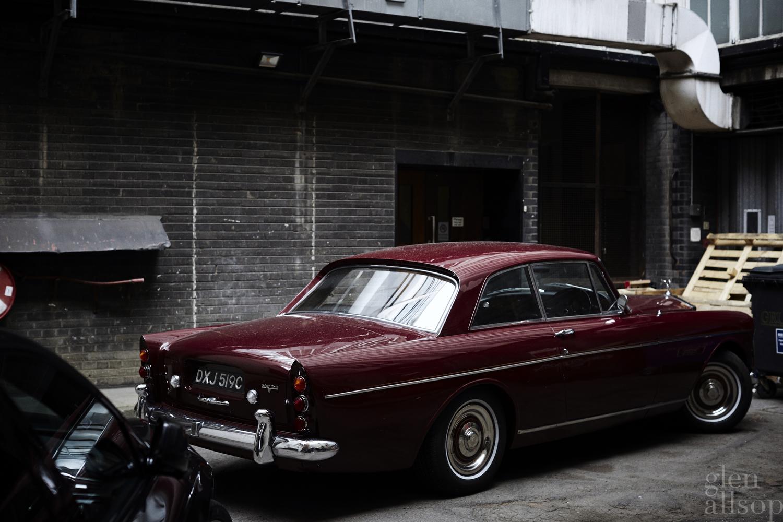 rolls royce-burgundy-back alley-london