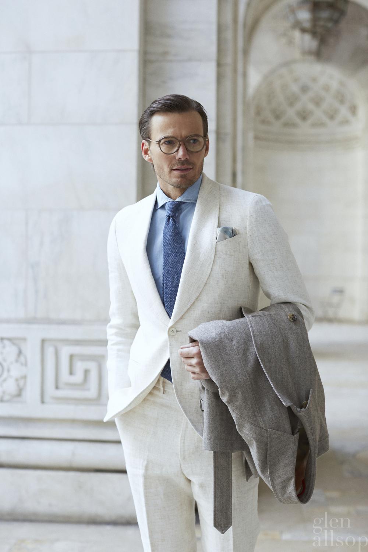 alex lundqvist-linen tuxedo-nyc