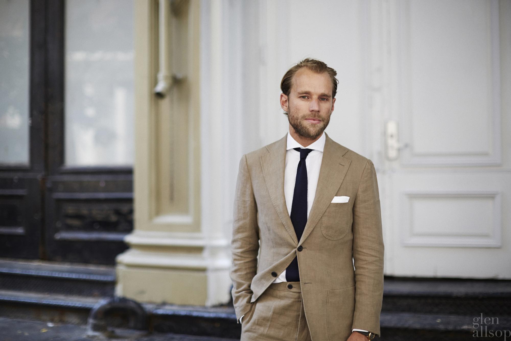 patrick johnson-linen suit-casual italian suit-glen allsop