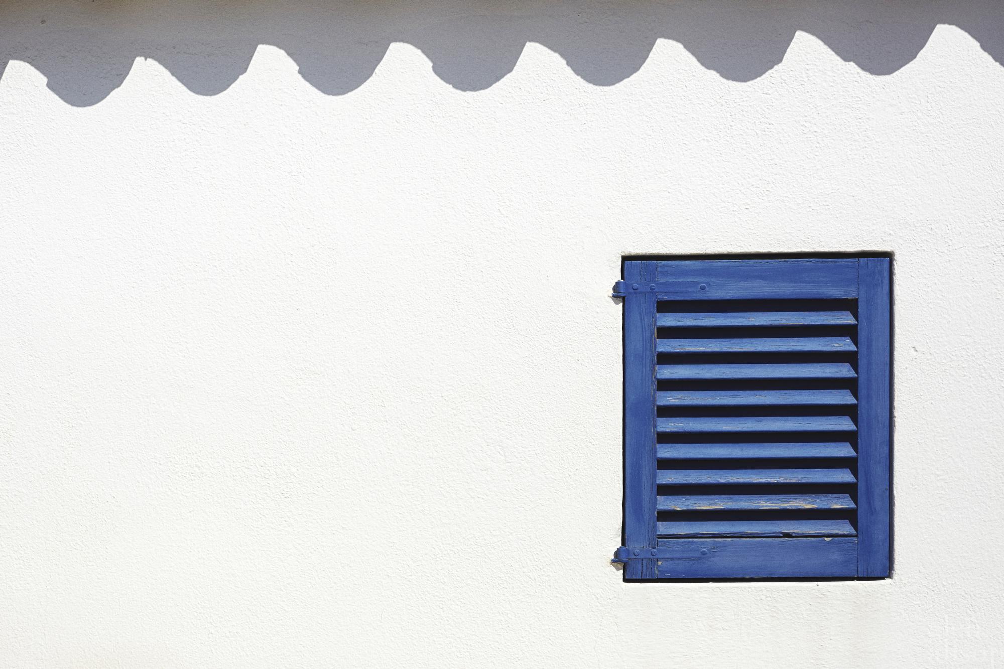 formentera-blue window-window shutters-shadows