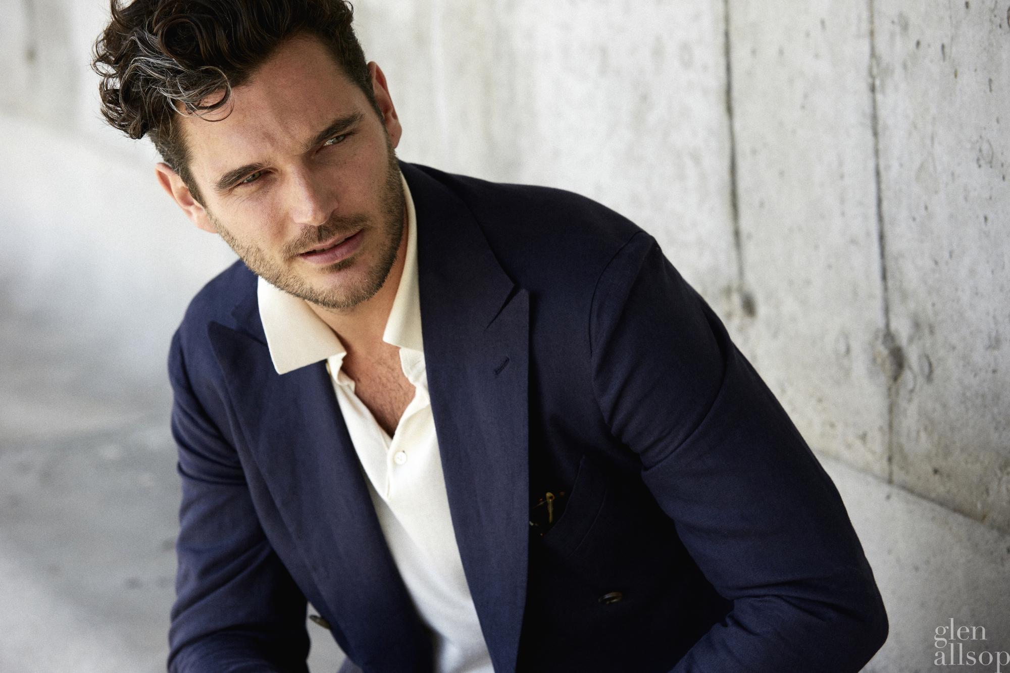 jislain duval-p johnson tailors-navy linen suit