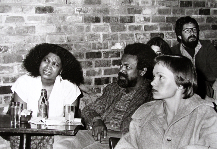 AMIRI BARAKA AT THE TIN PALACE, DECEMBER 15, 1979,   PHOTO BY CARIN DRESCHALER-MARX