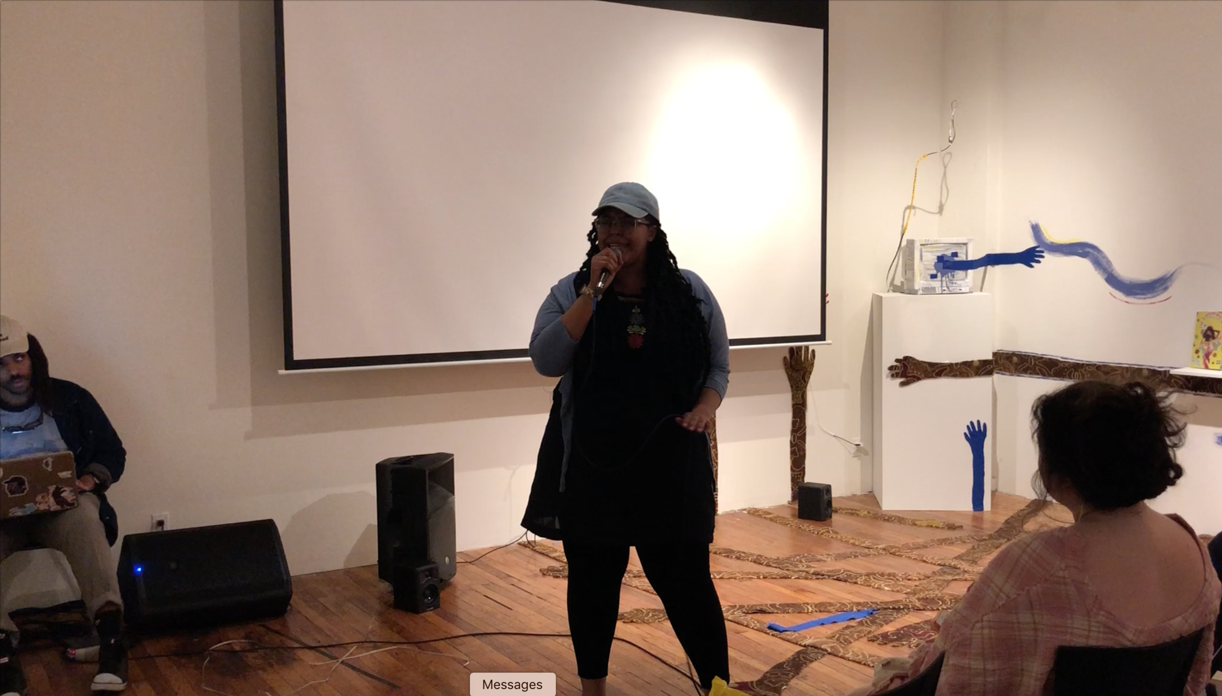 Featured: The Afr0dite performs at BronxArtSpace at the Spi(Cy-Fi)lms event