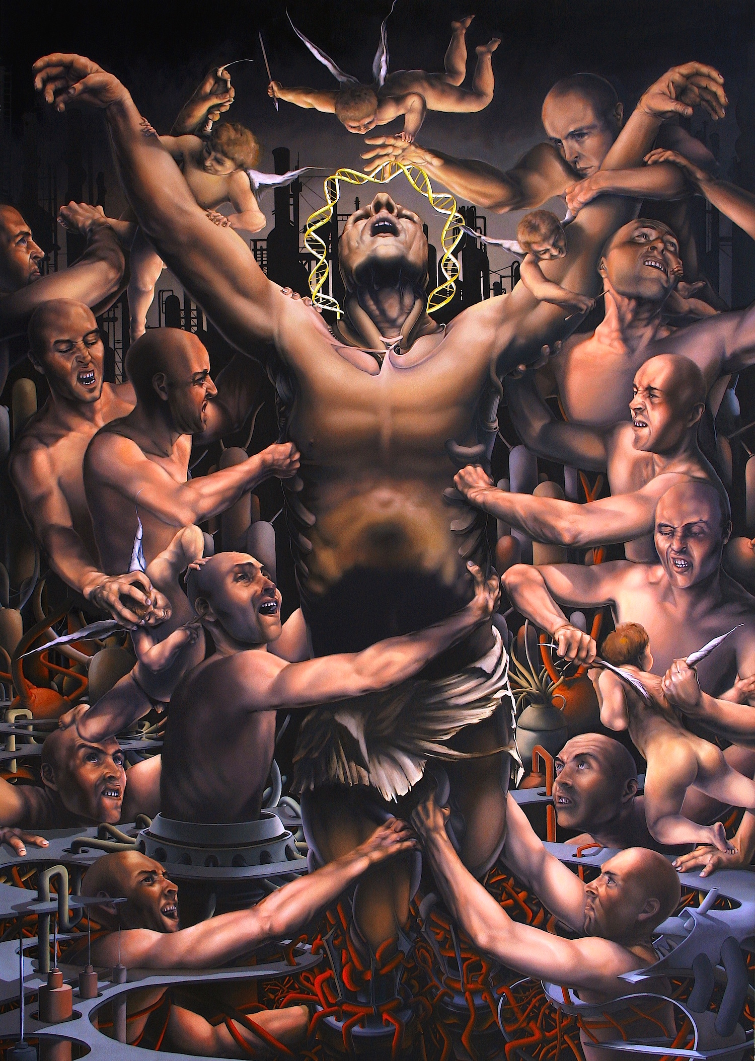 """The Church of Private Enterprise"" Oil on Canvas. 66"" X 93"""