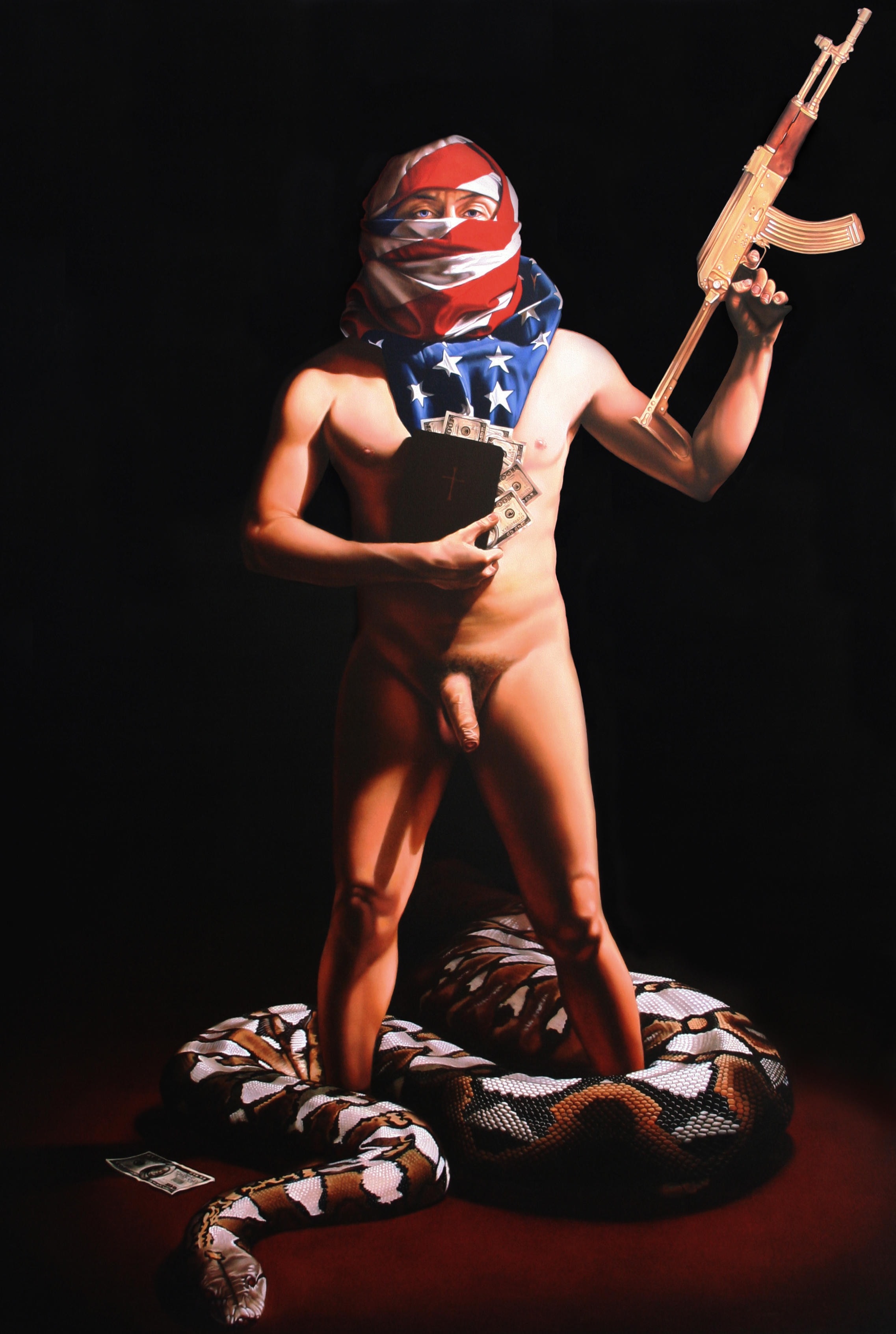 """Crazy For God"" Oil on Canvas. 64"" X 80"""