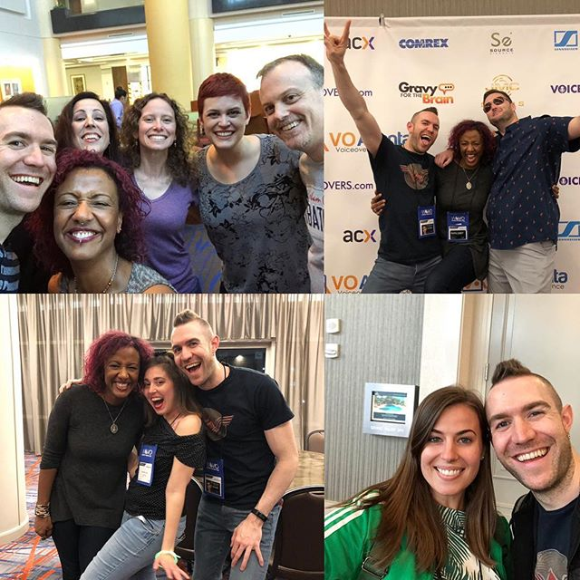 Man, do I suck at taking photos! Here are the handful I snapped during the amazing, and busy, @voatlanta 2019. When I wasn't teaching or presenting I was able to talk to so many old and new friends. I'm overwhelmed by the love and support both @junotme23 and I got from you all. You inspire us. Every single one of you. 😍❤️🙌#friends #voatlanta #voiceover #acting #community #vo #voatlanta2019 #grateful