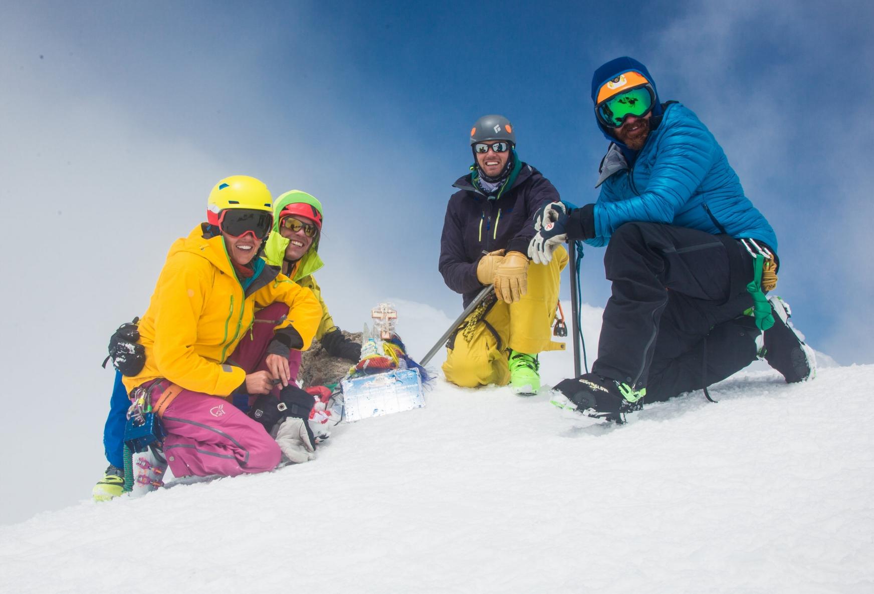 Our Elbrus Summit team - Sierra, Mark, David, Ben.