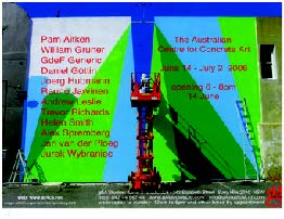 Flyer for AC4CA exhibition at G&A Studios, Sydney, 2006