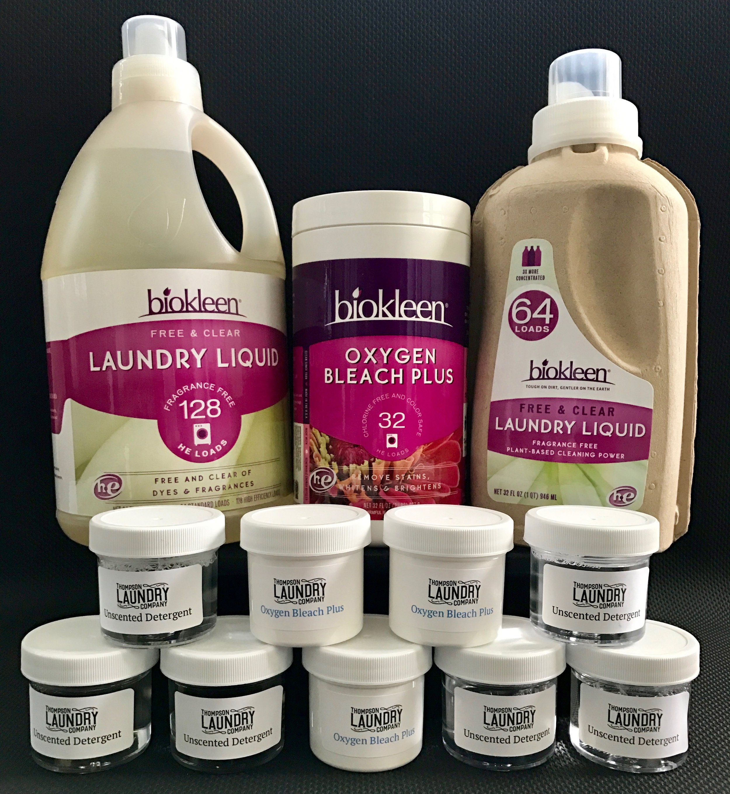 BIOKLEEN LAUNDRY PRODUCTS FOR SALE AT THE FRONT COUNTER