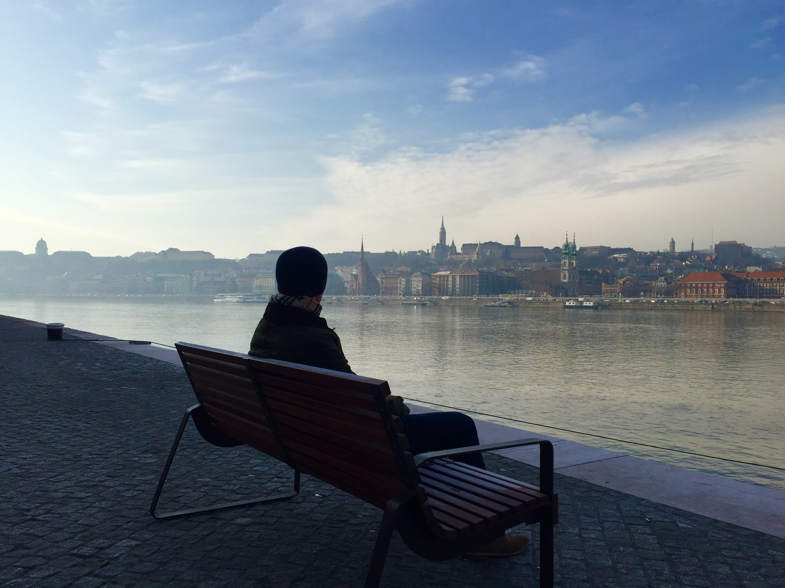 Sitting by the Danube, Budapest, Hungary