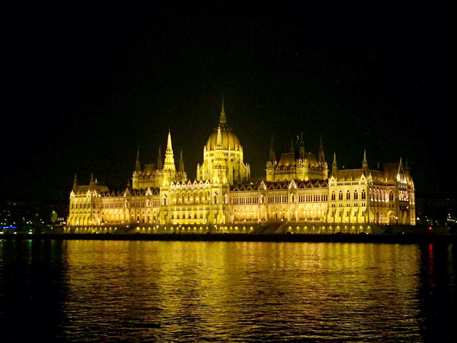 Budapest, Hungary at night