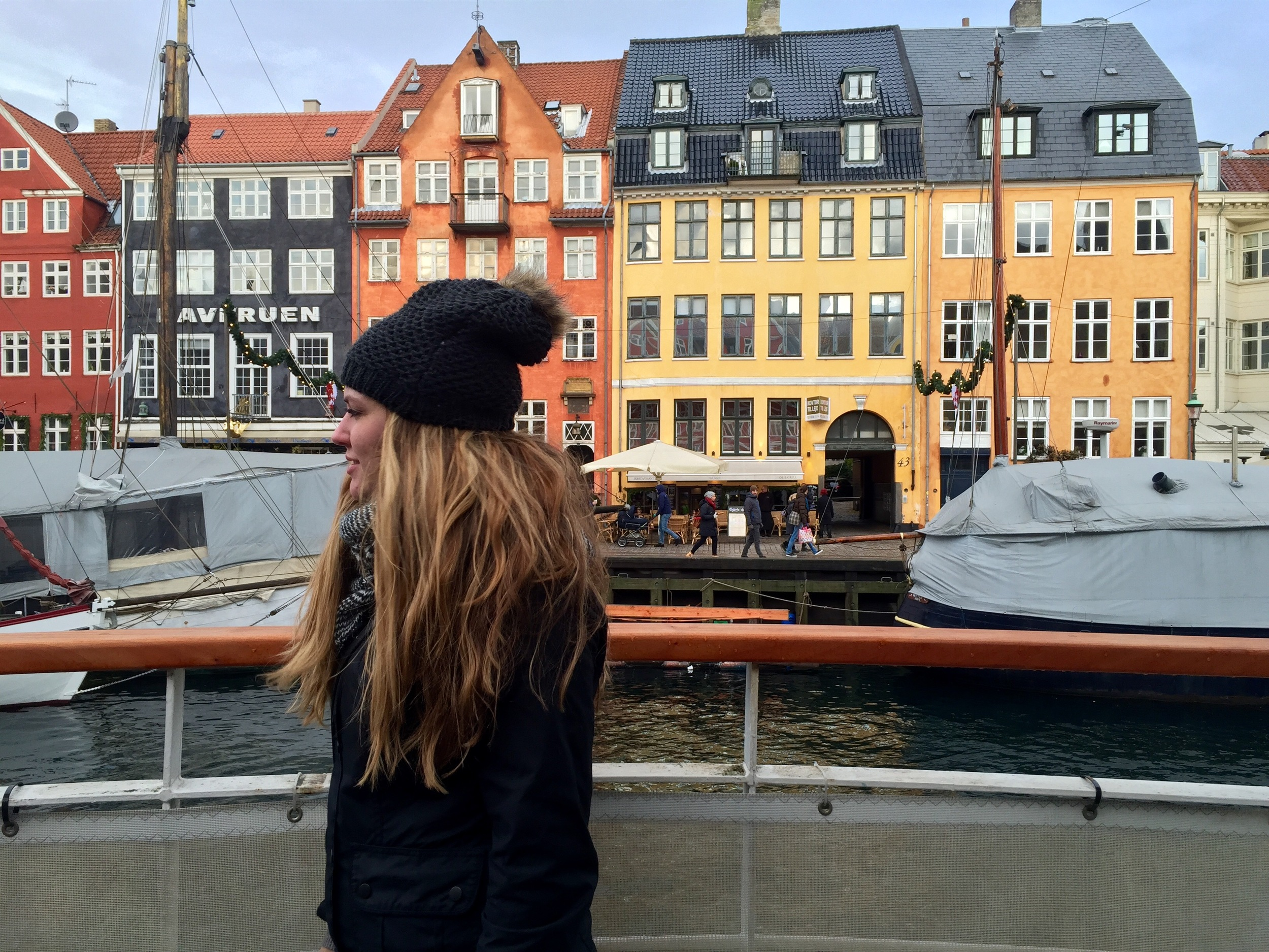 Krista in Nyhavn, Copenhagen, Denmark