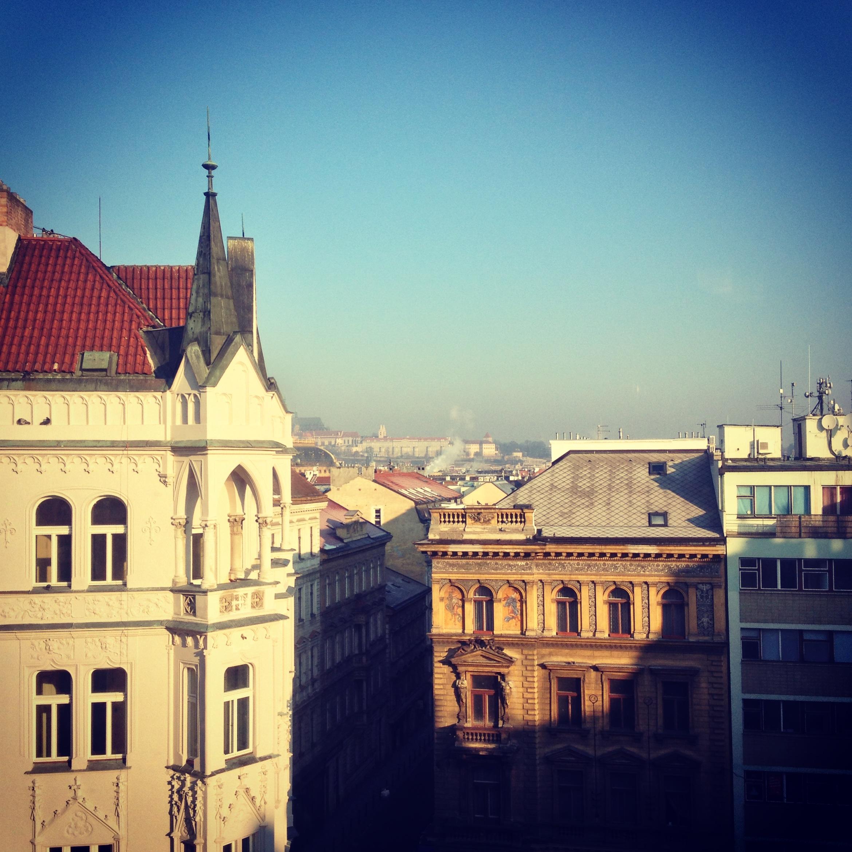 View from Mosaic House, Prague, Czech Republic