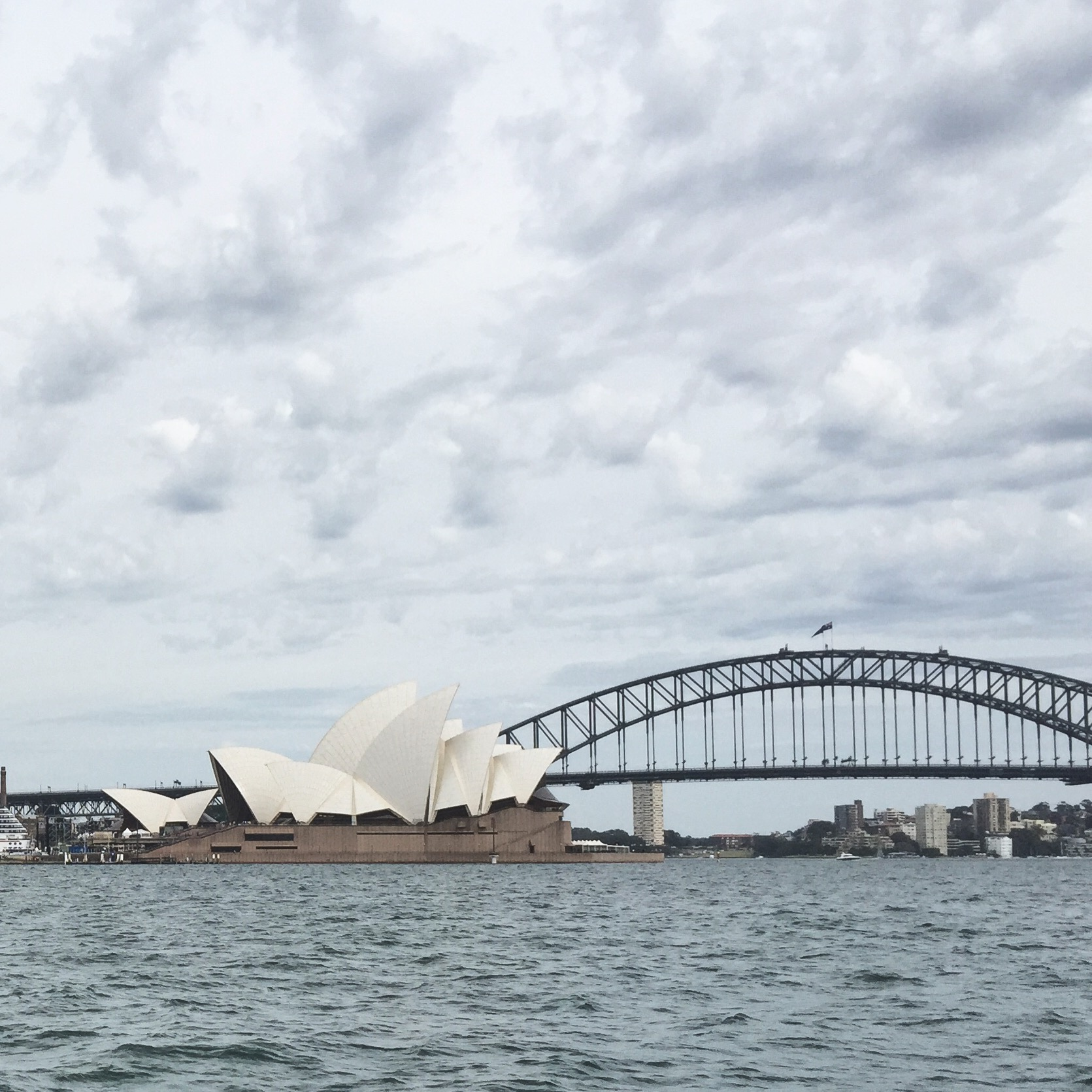 View of Sydney Opera House from Botanical Gardens