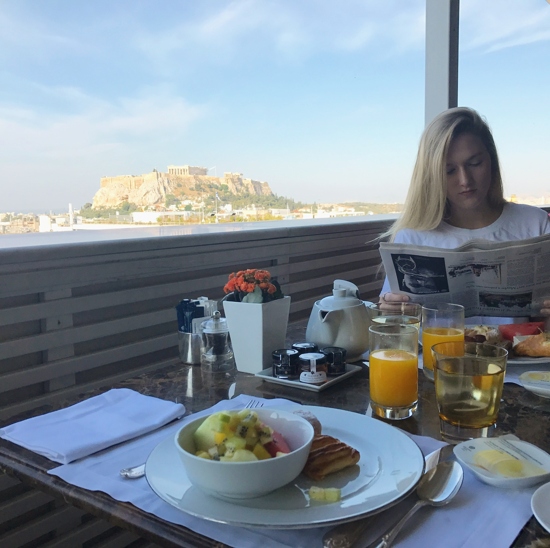 Breakfast at King George Athens
