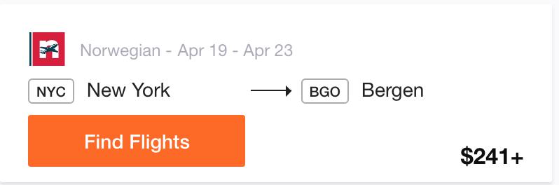 NYC to Bergen