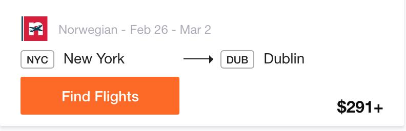 NYC to Dublin