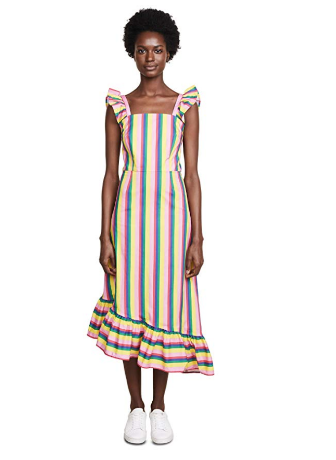 Staud Rainbow Dress