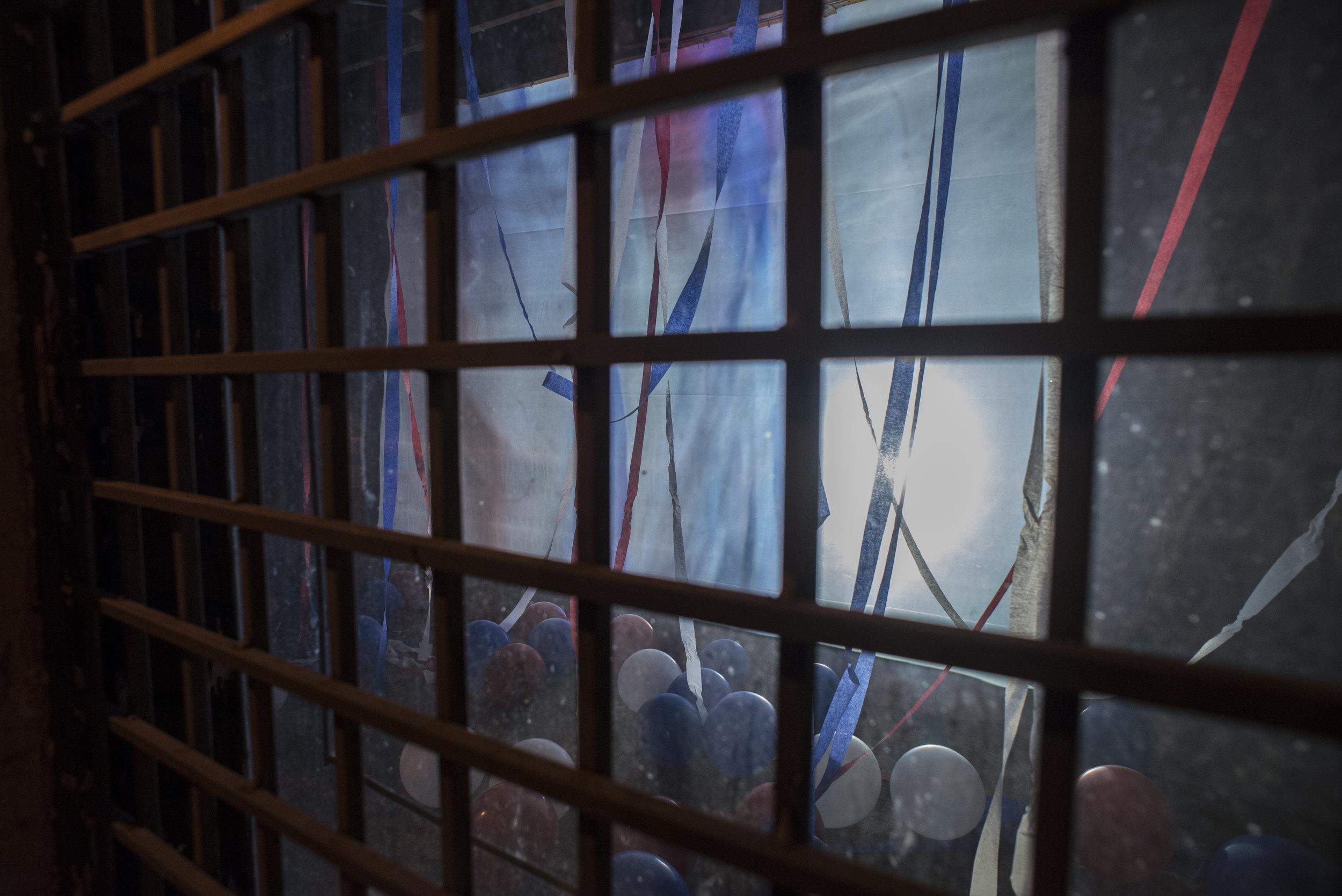 no es fiesta - installation at Bring Your Own Beamer Cedars