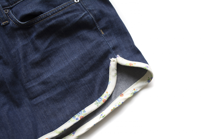 denim shorts tutorial