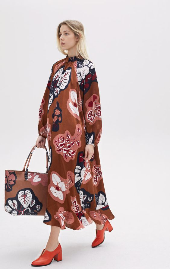 Love the big print and movement of this dress from brand Rodebjer