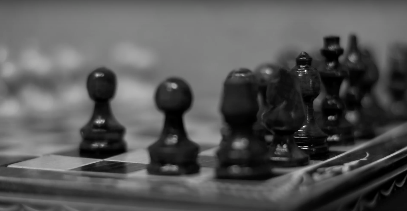 David Scrieciu - Checkmate  A prisoner must win a game of chess in order to survive.