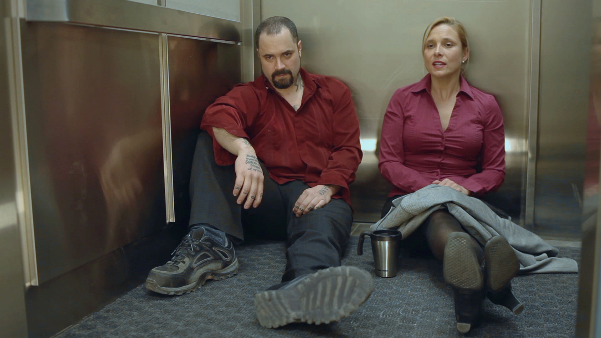 Vincent Valentino & Jason Marshall Sam and Diane   2 people who despise one another get stuck in an elevator.