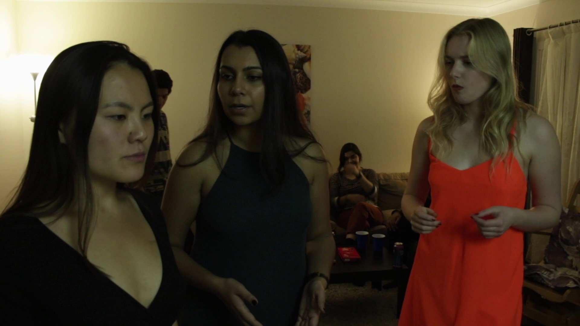 Behind the Scene (7:00)  Rahim Bahrami & Brian Briggs  Three young girls are secretly sex-workers because of financial situation. One of them has her problems solved and wants to leave the group, but can she forget her dark past?