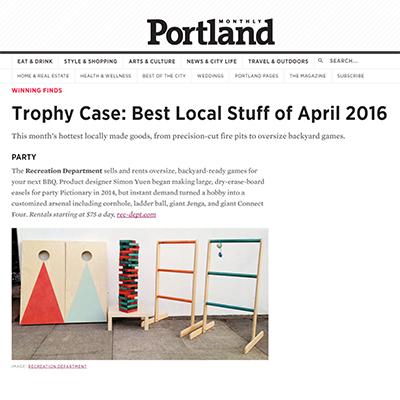 Portland Monthly Online | April 2016