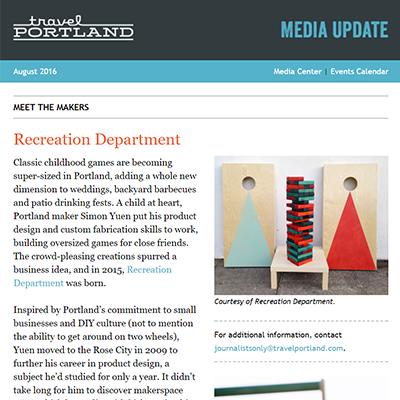 Travel Portland Newsletter | August 2016