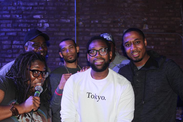 From left to right: Frankie Parker, Cedric Brown, Xazavian Valladay, PJ Morton, Terence Lee, Mahmoud Khan