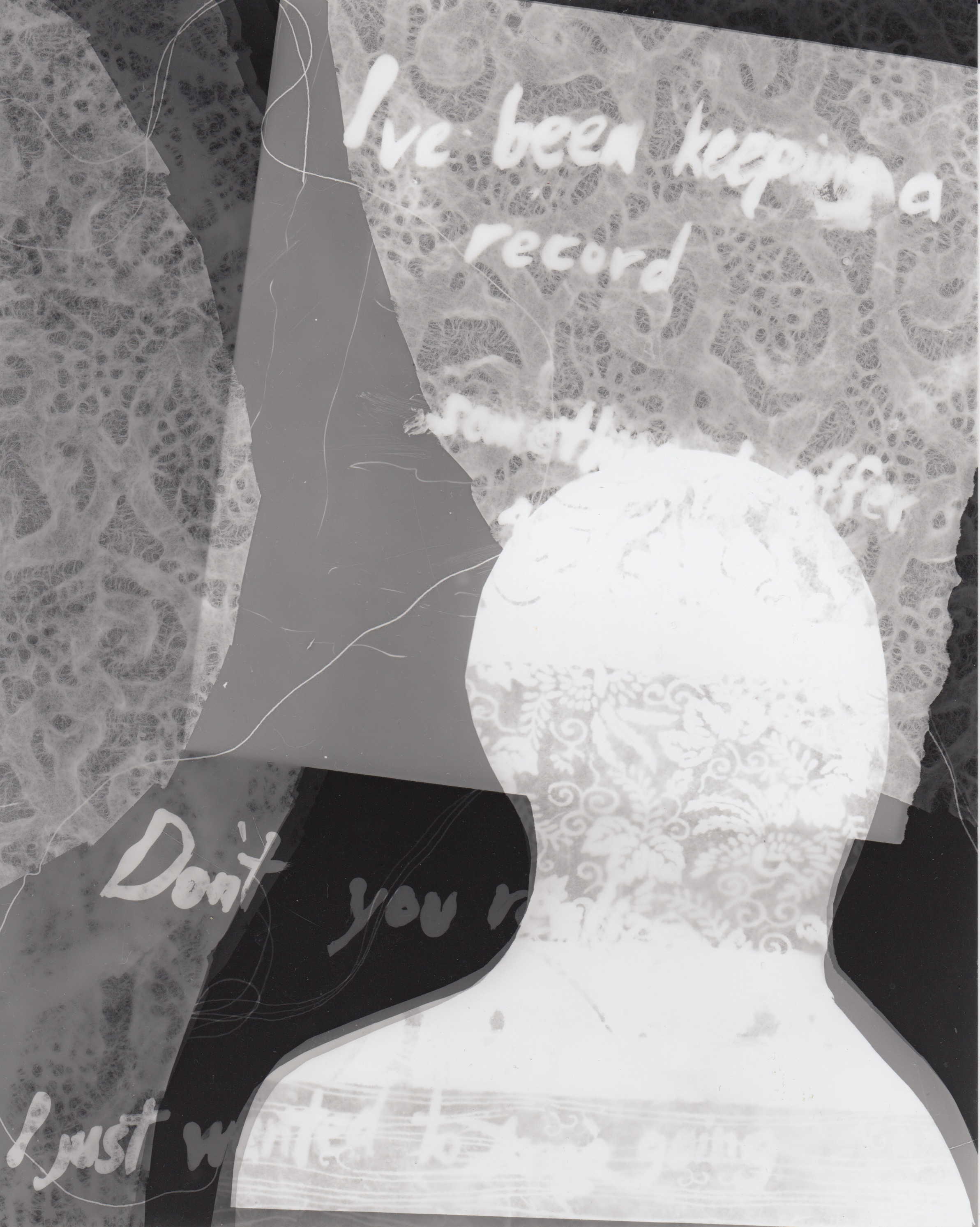 I've been keeping a record (3) - Photogram