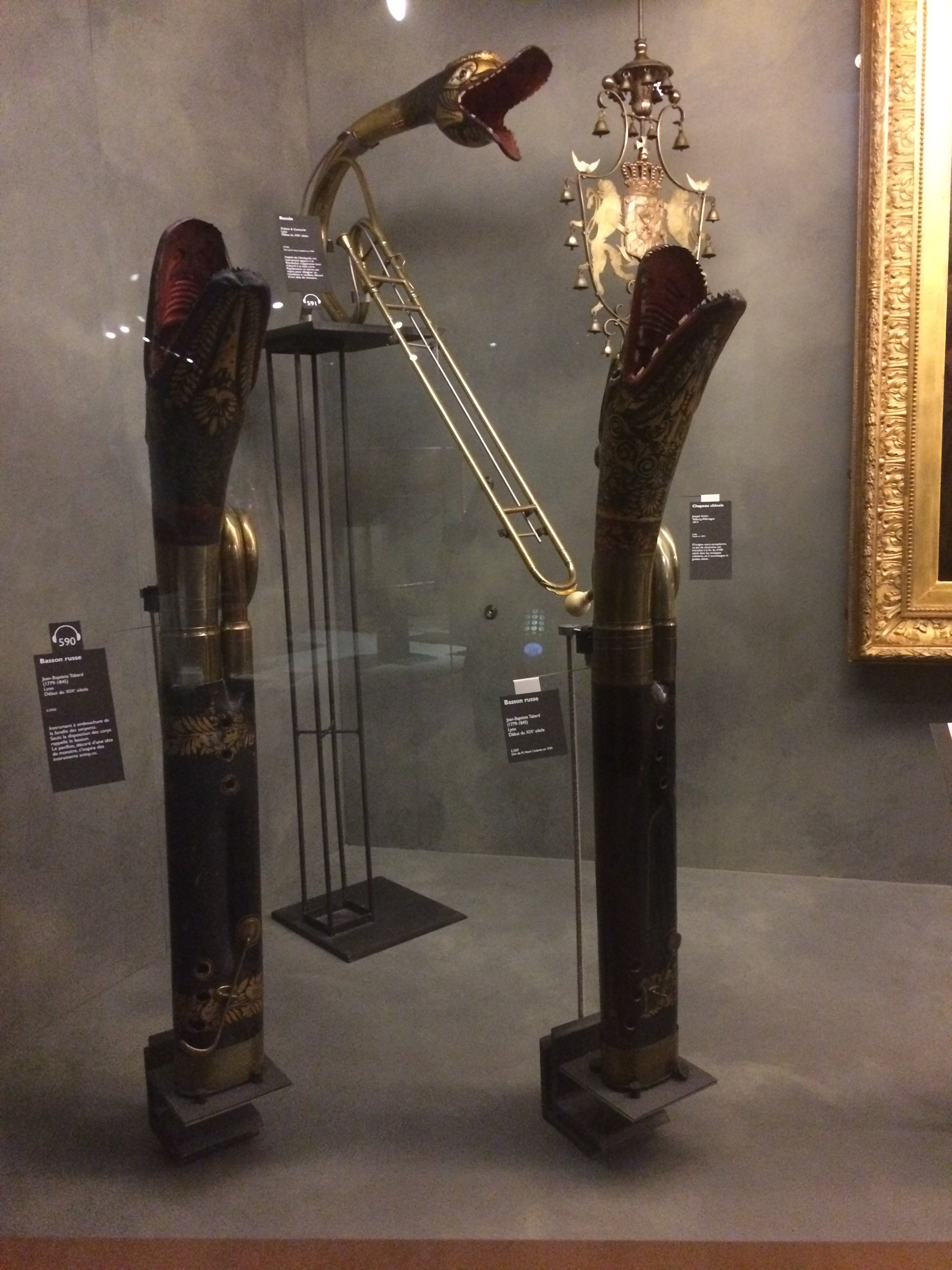 Russian Bassoons in the shape of dragons.