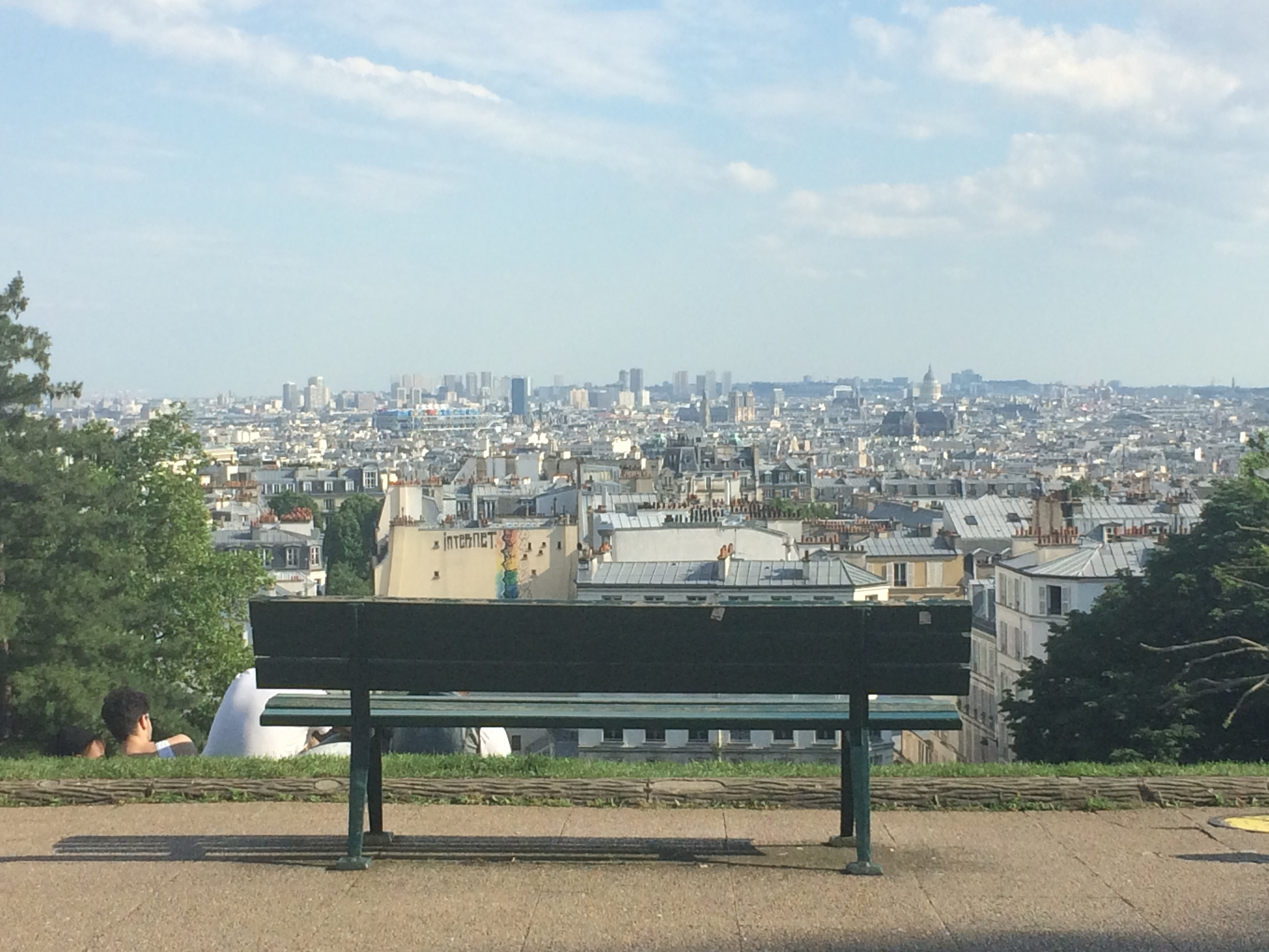 A view of the city from halfway up to see Sacré-Cœur.