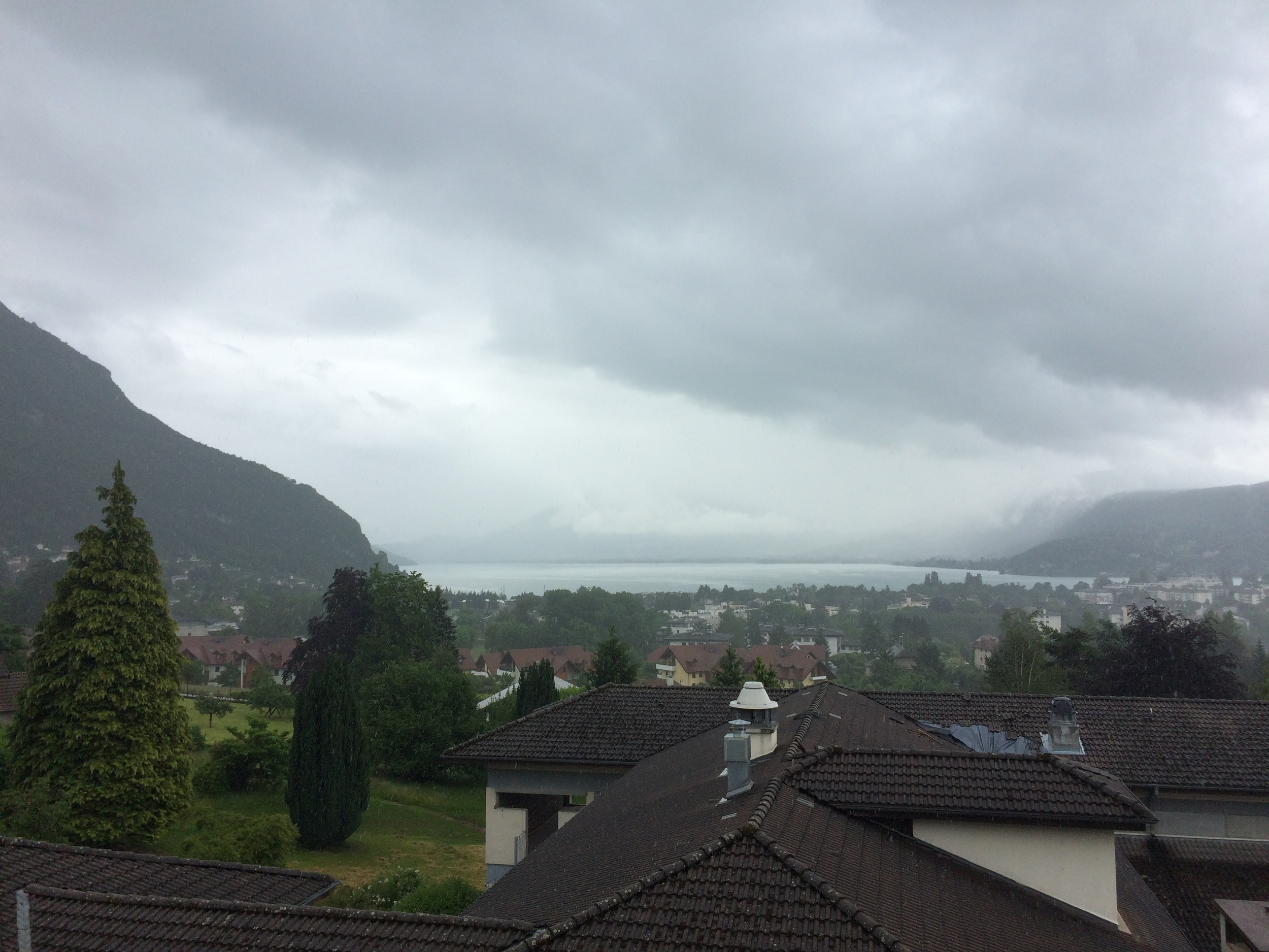 View of Annecy from the hostel we stayed at.