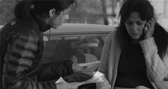 Angela directing renowned actress Evangelina Sosa.