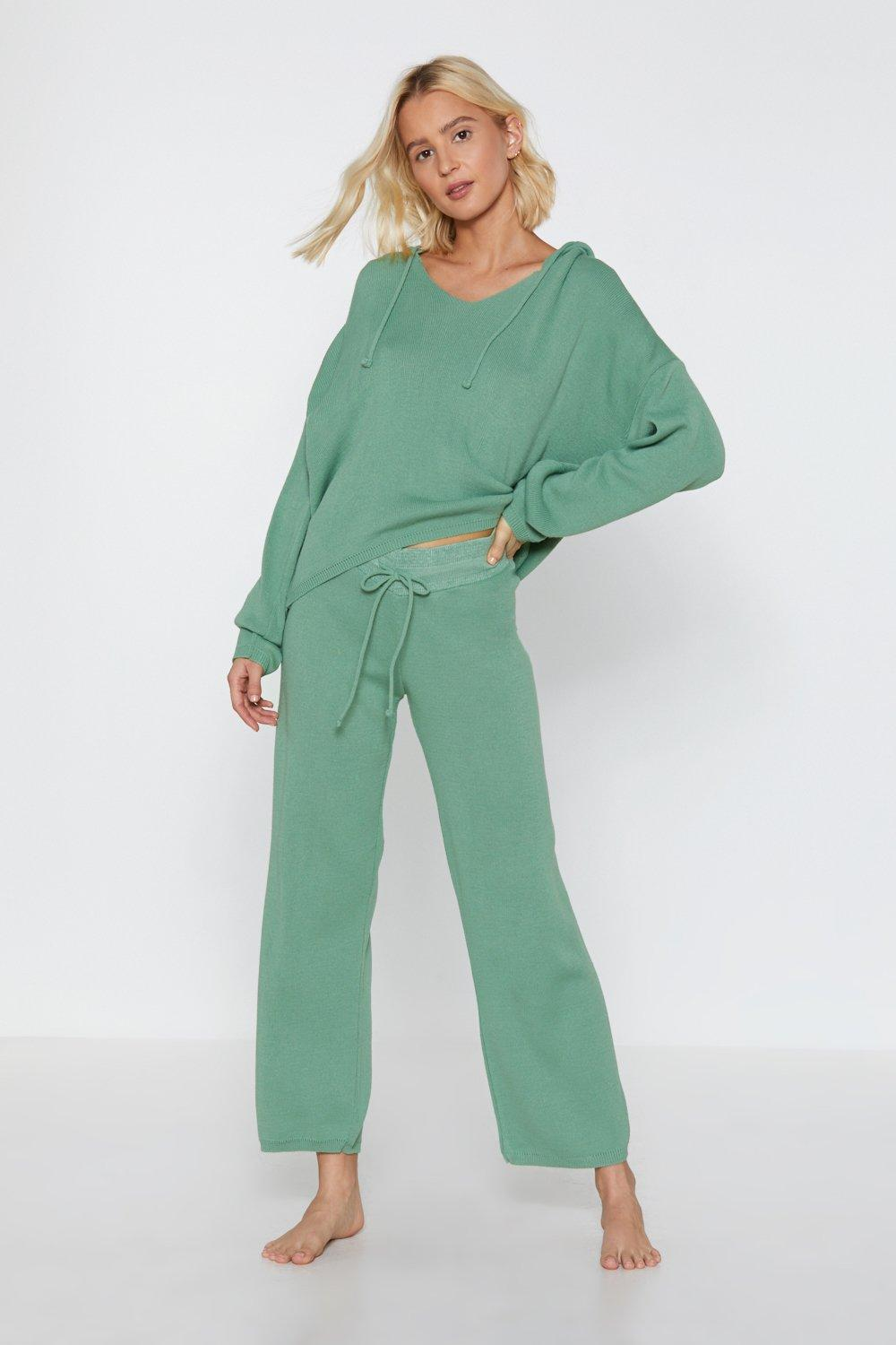 BY YOUR SIDE SWEATER AND WIDE LEG PANTS