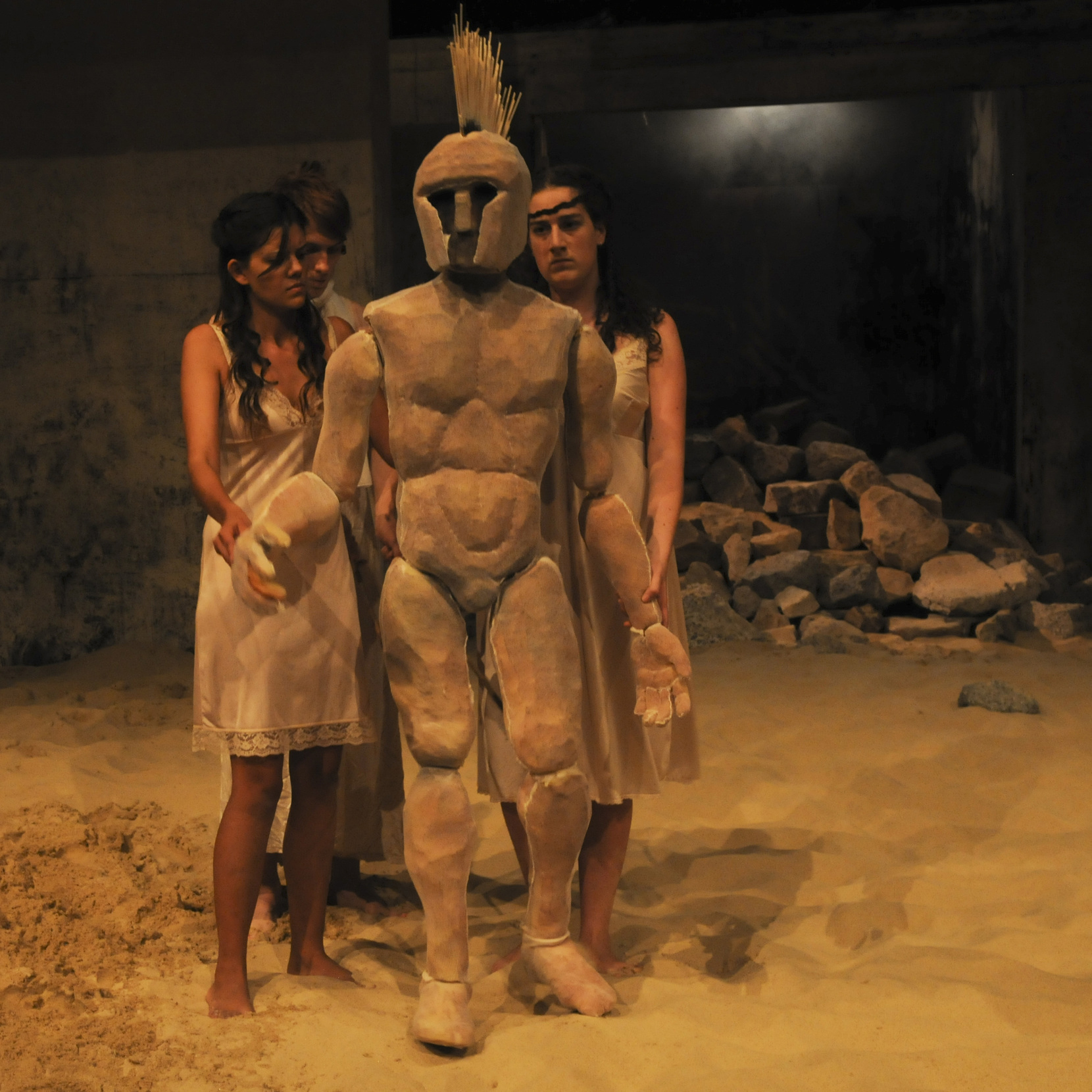 women of troy - set + costume + puppetry2011
