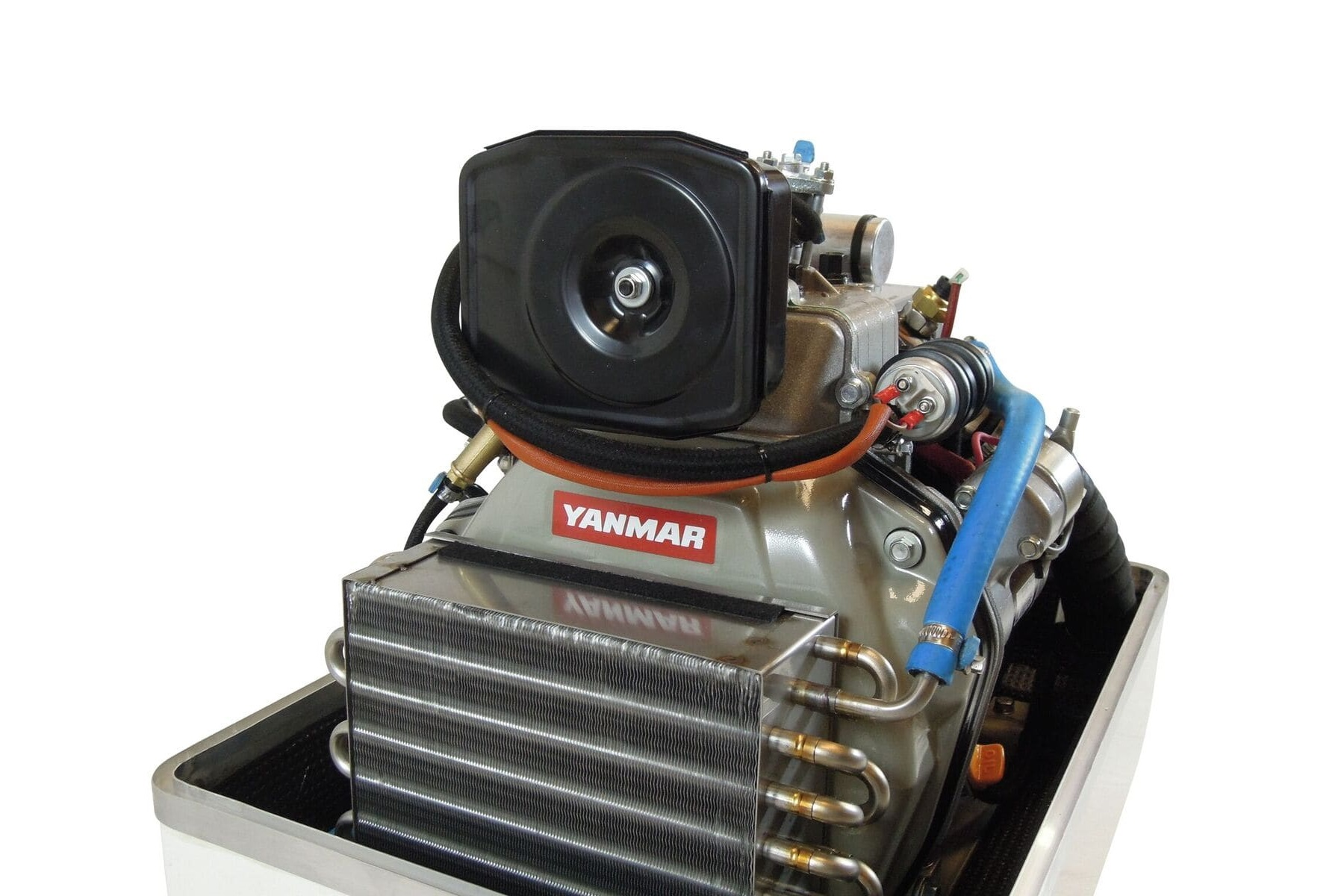 - Powered By YanmarWe are proud to have Yanmar engines fitted to the new SY Series of Paguro generators. Recognised worldwide, their reputation for power and reliability complements that of the VTE system. Together, they assure you of a package which is powerful and reliable but also one that is user friendly and easy to maintain. The service interval for the engine is an amazing 250 hours and the service tasks are simple. With no oil filter and the water pump now having a carbon ceramic seal, the only thing that is routinely required is an oil change!