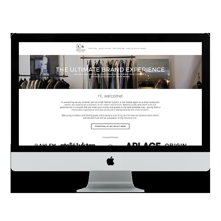 Emelie Klasson Consulting    brand & site design