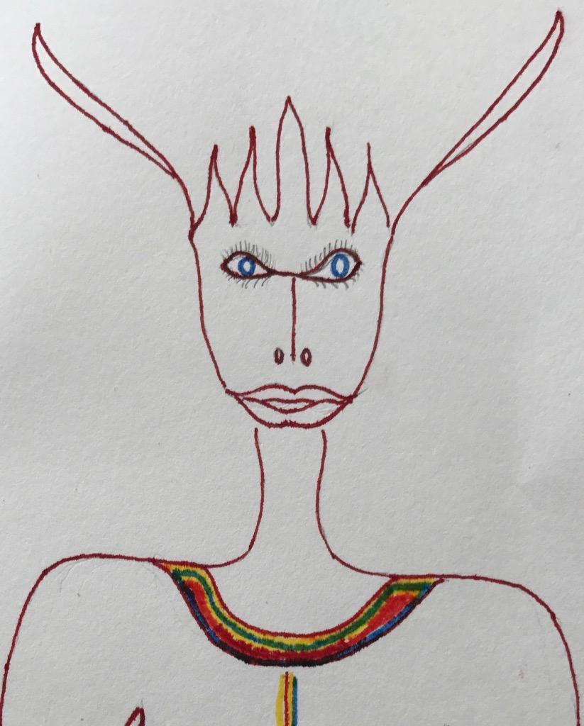 Tekening van mijn moeder,  Hanneke Korteweg-Frankhuisen