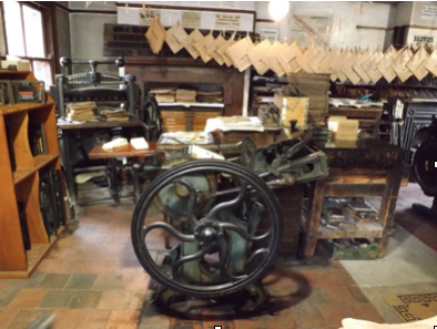 Printers' exhibit at Blists Hill Victorian Town  © Ironbridge Gorge Museum Trust