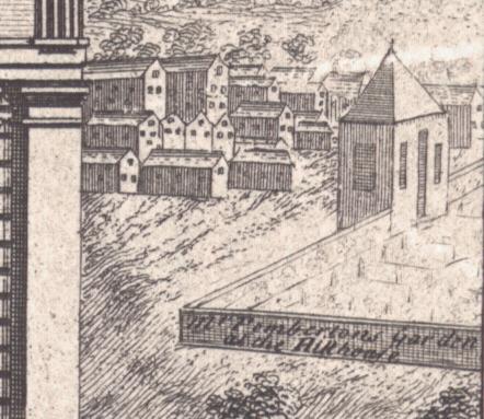 William Westley, The North Prospect of St. Philip's Church, etc. in Birmingham, 1732 (detail), Library of Birmingham, 13922