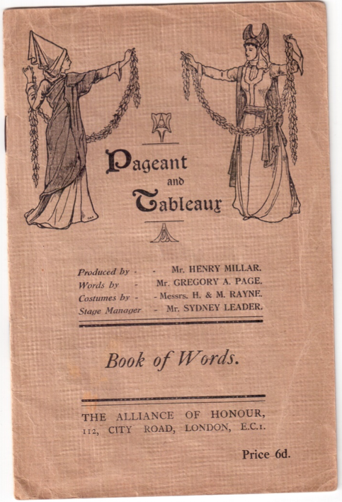 Pageant and Tableaux: Book of Words