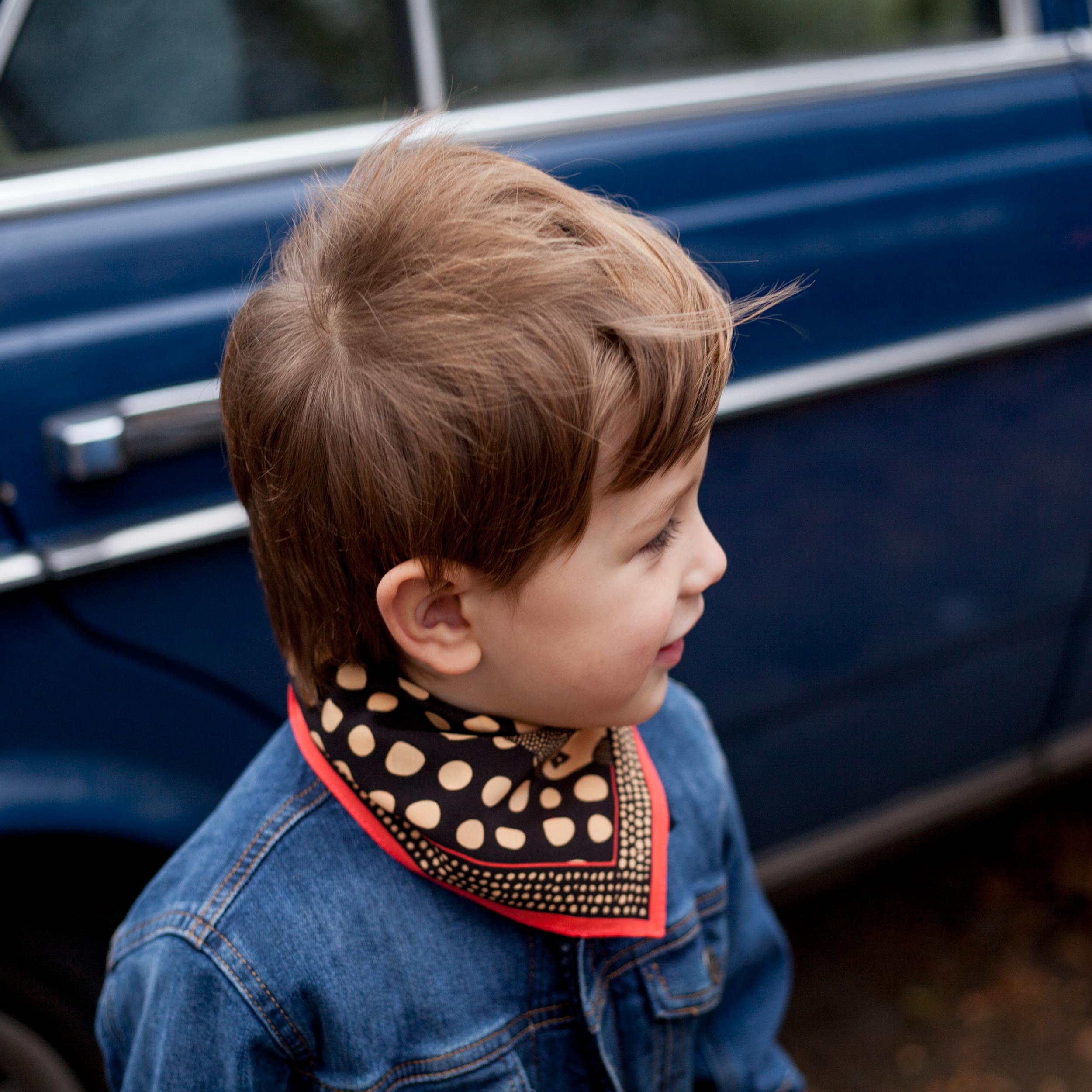 kids silk neckerchief/prints